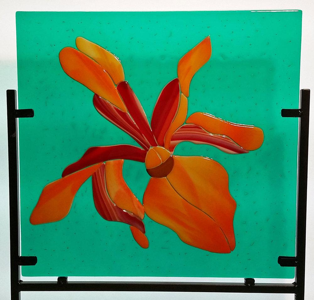 "Blaze Orchid ~ 12"" Square ~ $165"