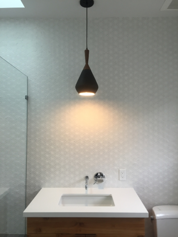Here is a shot of the master bathroom w  another gorgeous pendant light  We  added skylights over each tub shower which is one of our favorite things to  add  Blog   SF DESIGN BUILD. Height Light Fixture Over Bathroom Sink. Home Design Ideas