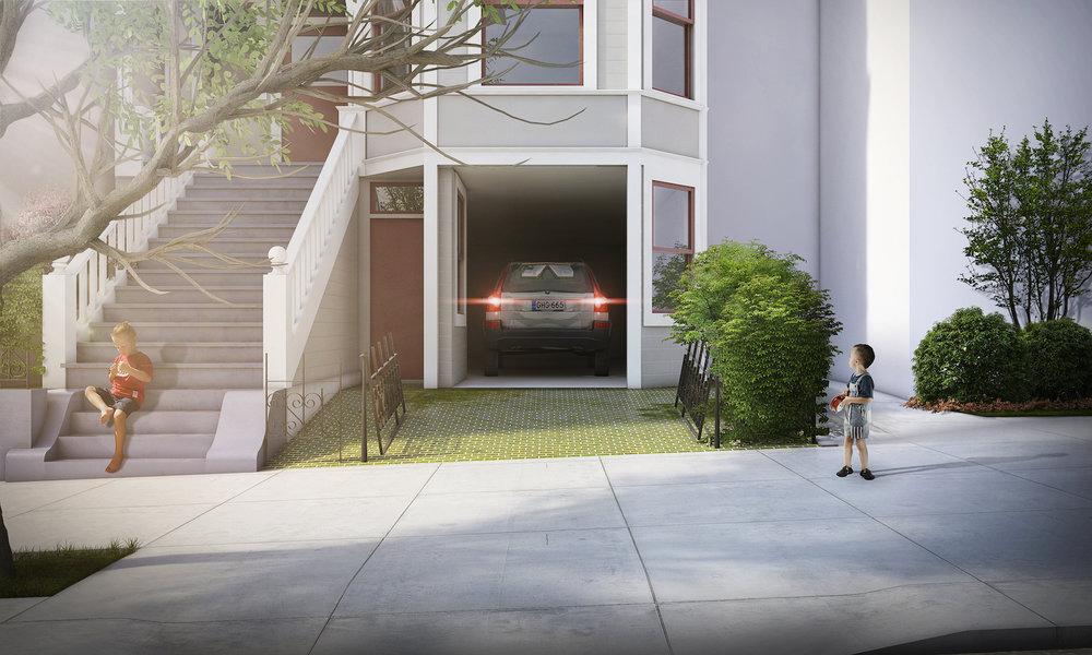 21st street secret garage door open facade rendering san francisco.jpg