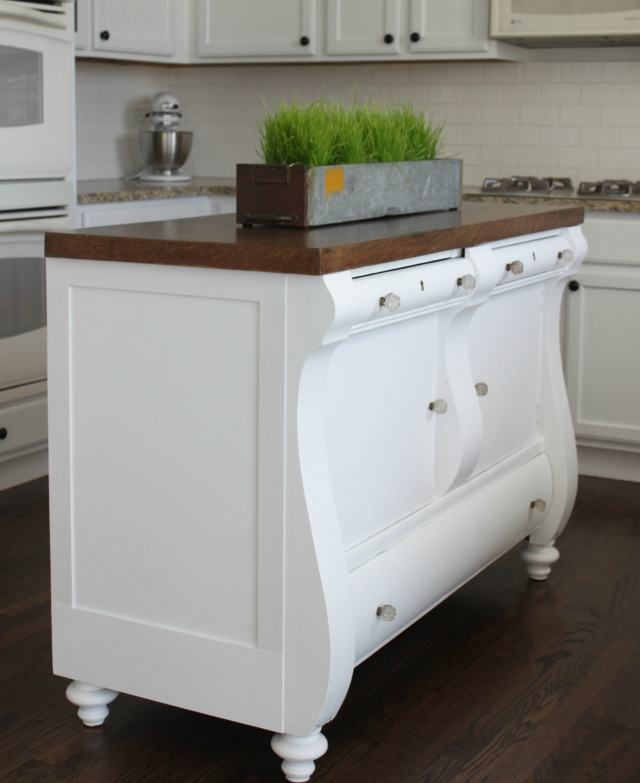 ANTIQUE HUTCH TO A KITCHEN ISLAND — Colors and Craft