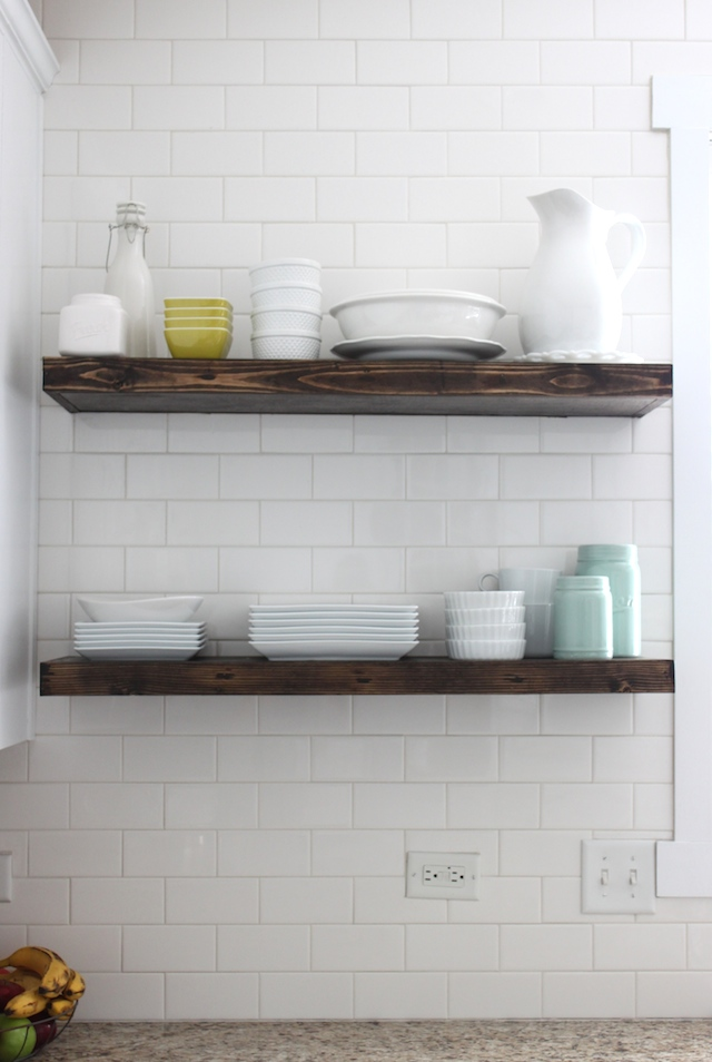 KITCHEN FLOATING SHELVES — Colors and Craft