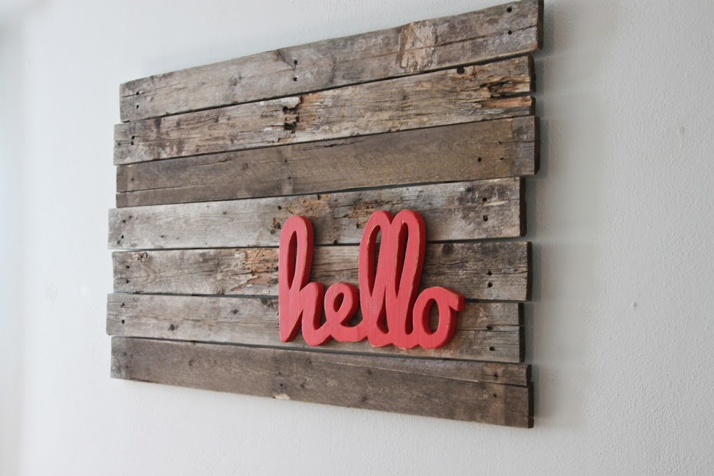 Pallet Wall Art Colors And Craft