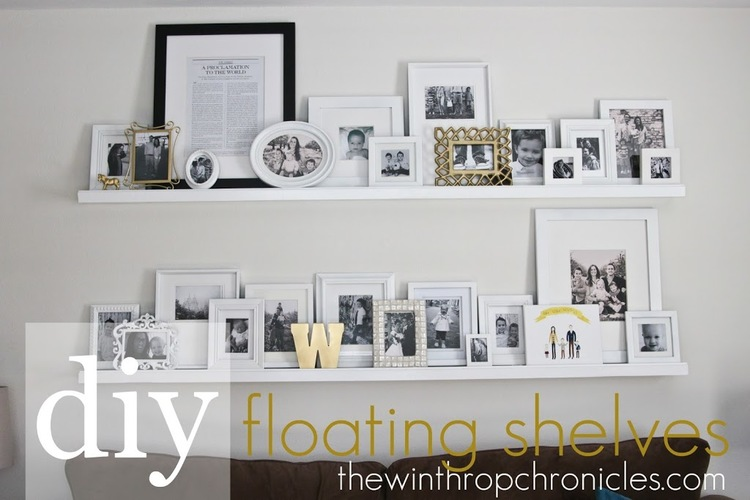 Diy Floating Shelves Colors And Craft Interesting Floating Shelves For Picture Frames