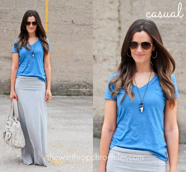 WEARING A MAXI SKIRT THREE WAYS — Colors and Craft