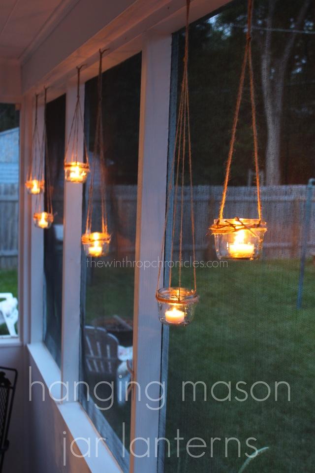 hanging mason jar lanterns colors and craft