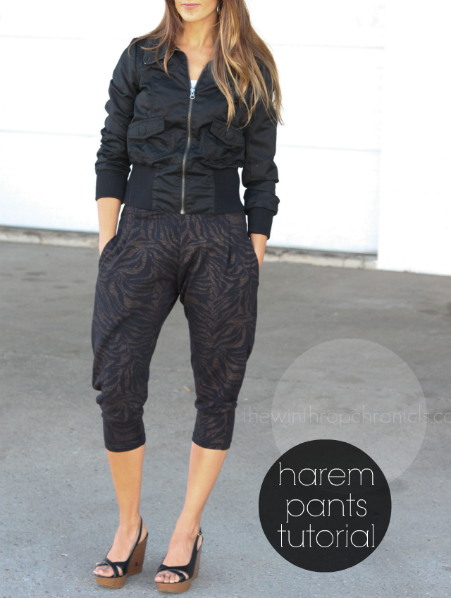 HAREM PANTS TUTORIAL — Colors and Craft