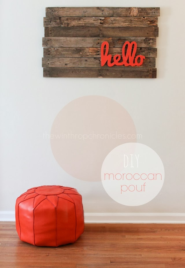 Moroccan Poufs Are Every Where These Days, You May Have Seen Them Here Or  Here. I Think They Are Such A Fun Accent For A Room.