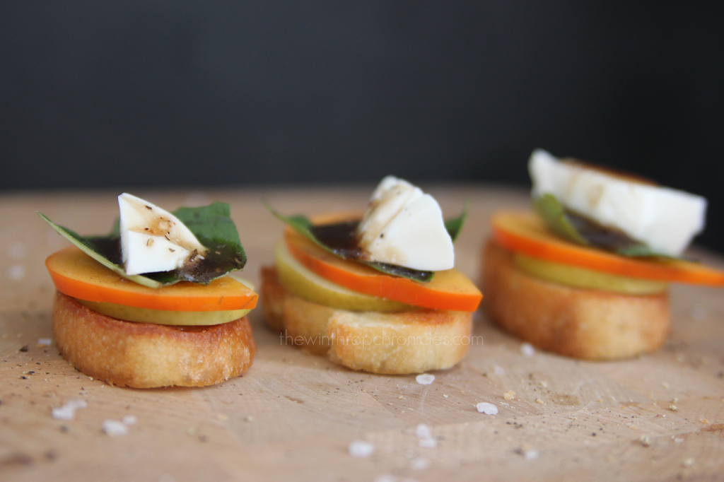 PERSIMMON CAPRESE TOAST — Colors and Craft