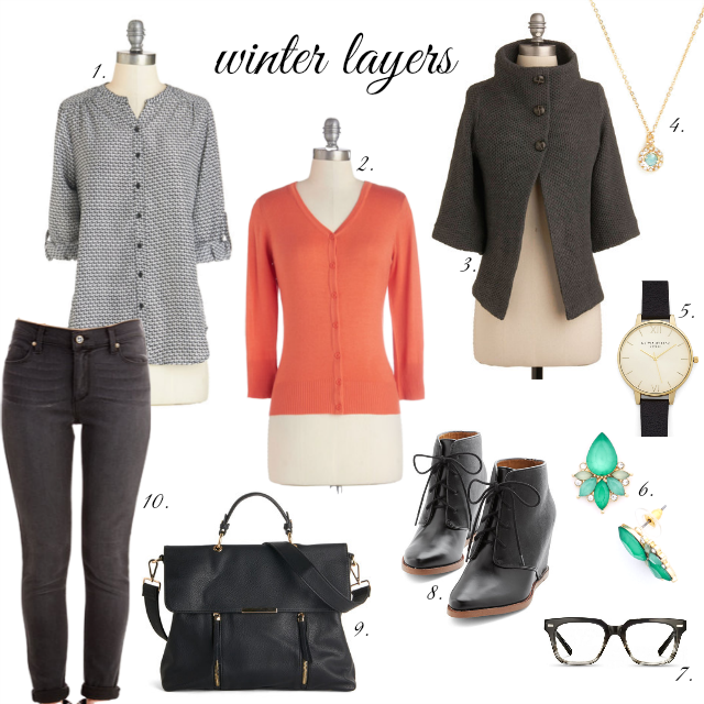 winter layers style board