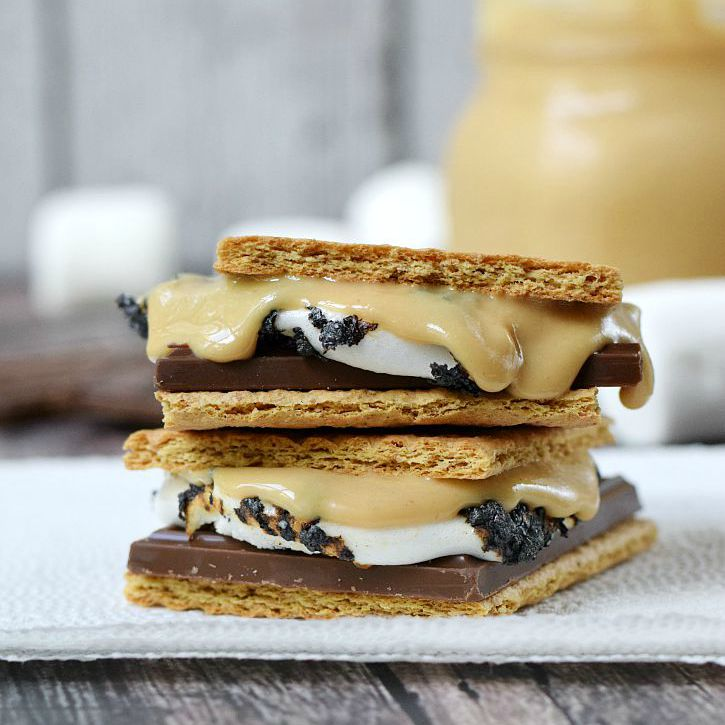 Change-up-your-Outdoor-Smores-with-creamy-Homemade-Peanut-Butter-cookingwithcurls.com-LetsMakeSmores-Ad