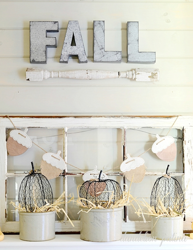 neutral-fall-mantel-rustic-decor
