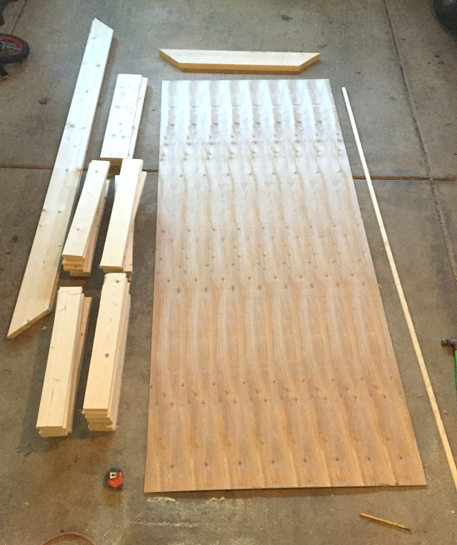 how to build a barn door with plywood