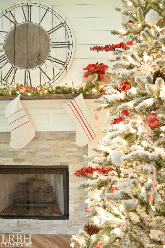 drop-cloth-grain-sack-stripe-stockings-on-mantel-by-christmas-tree