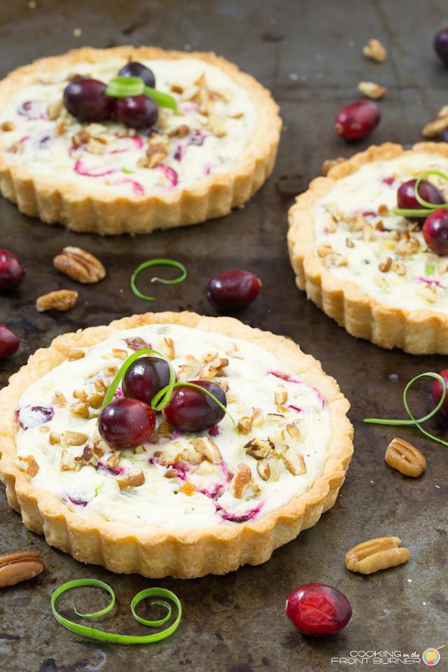 Cranberry Gorgonozola Tart Appetizer