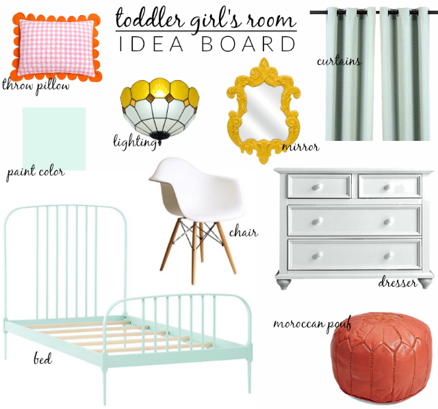 toddler girls room idea board