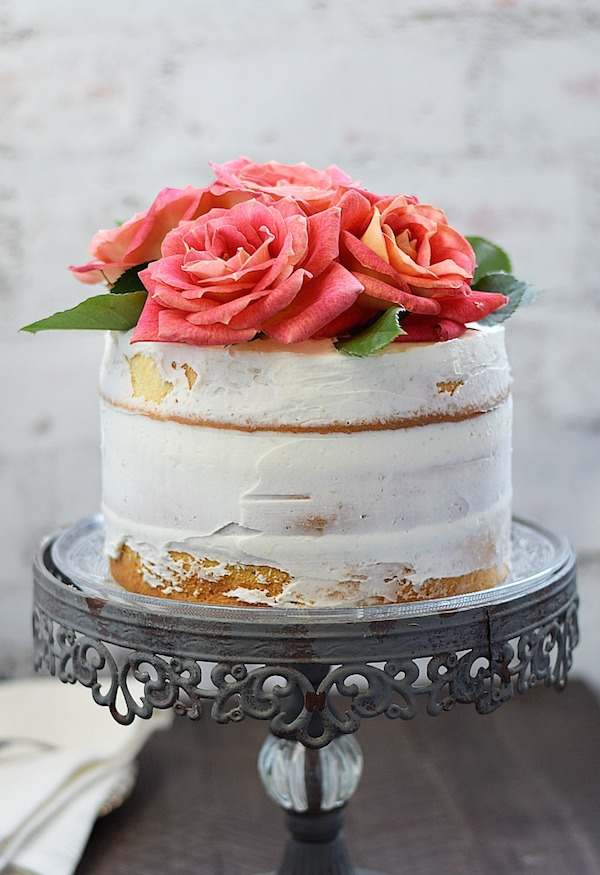 Naked 3-Layer Cake from  Cooking With Curls
