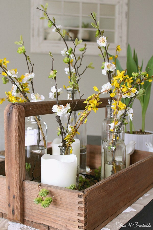 Spring Decor with Flowers from Clean & Scentsible