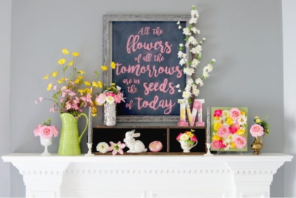 Spring Decor from  The Scrap Shoppe Blog