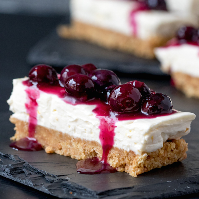 Blueberry and Lemon Cheesecake Bars from Simply Stacie