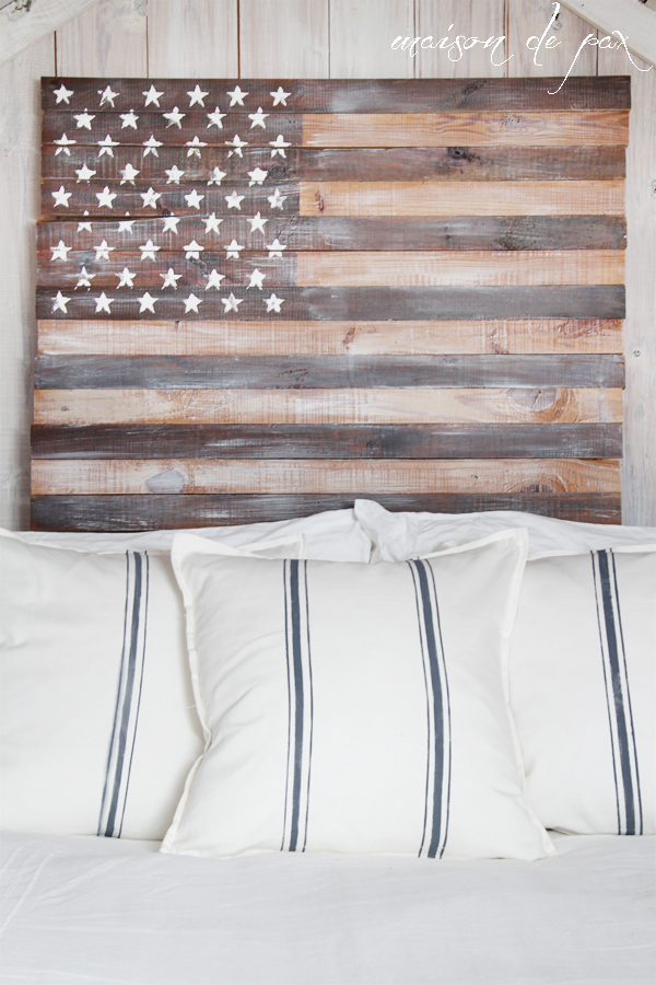 Planked American Flag
