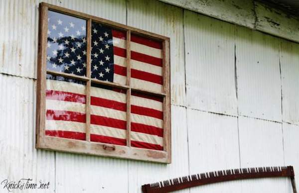 Vintage Flag Window