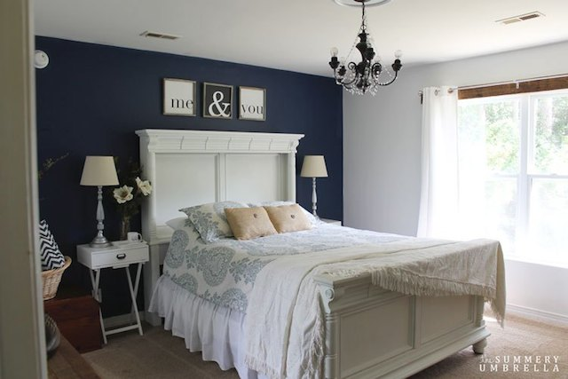 Master Bedroom Makeover from  Summery Umbrella Designs