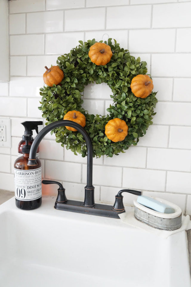 Summer Wreath Transitioned for Fall from Seeking Lavender Lane