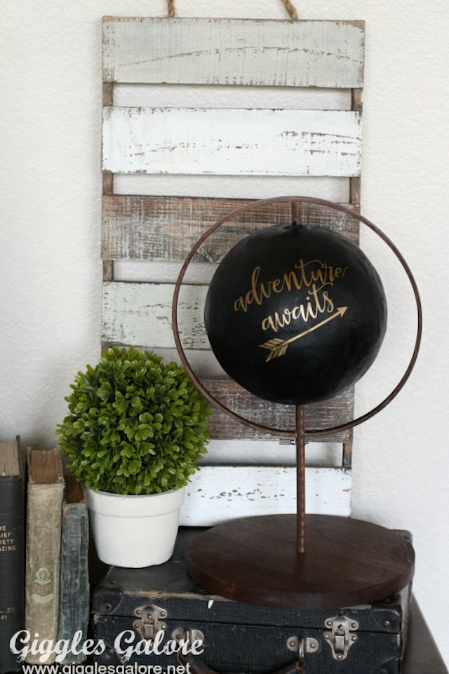 DIY Faux Globe from Giggles Galore