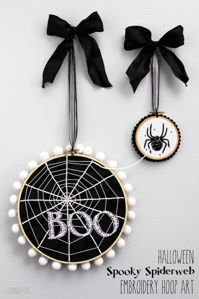 Spiderweb Embroidery Hoop Art from Flamingo Toes