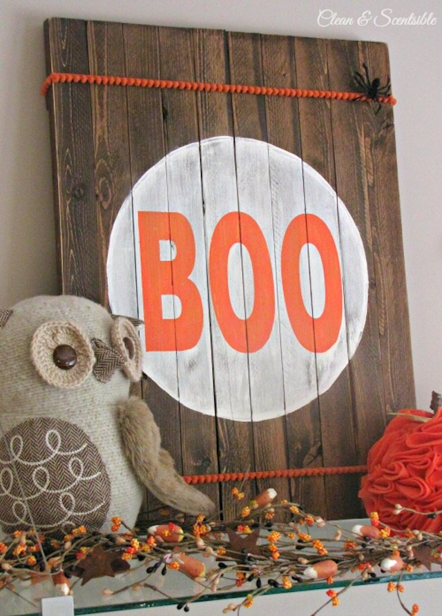 Rustic Halloween Sign from Clean and Scentsible