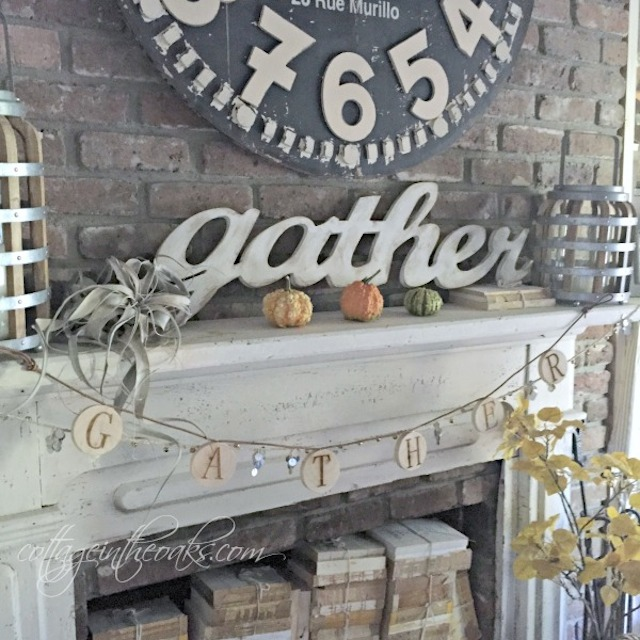 Fall Mantel from Cottage in the Oaks