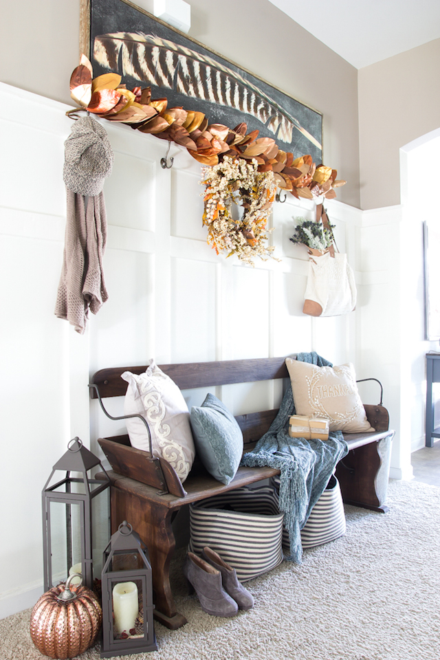 Rustic Fall Entry from Bless'er House