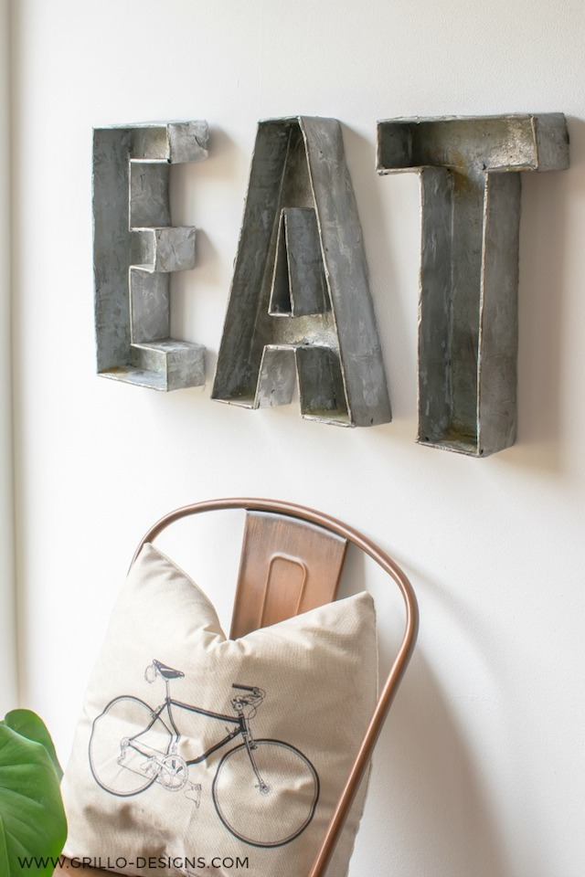 Faux Metal Letters from Grillo Designs