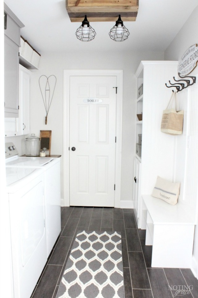 Mud Room Reveal from Noting Grace