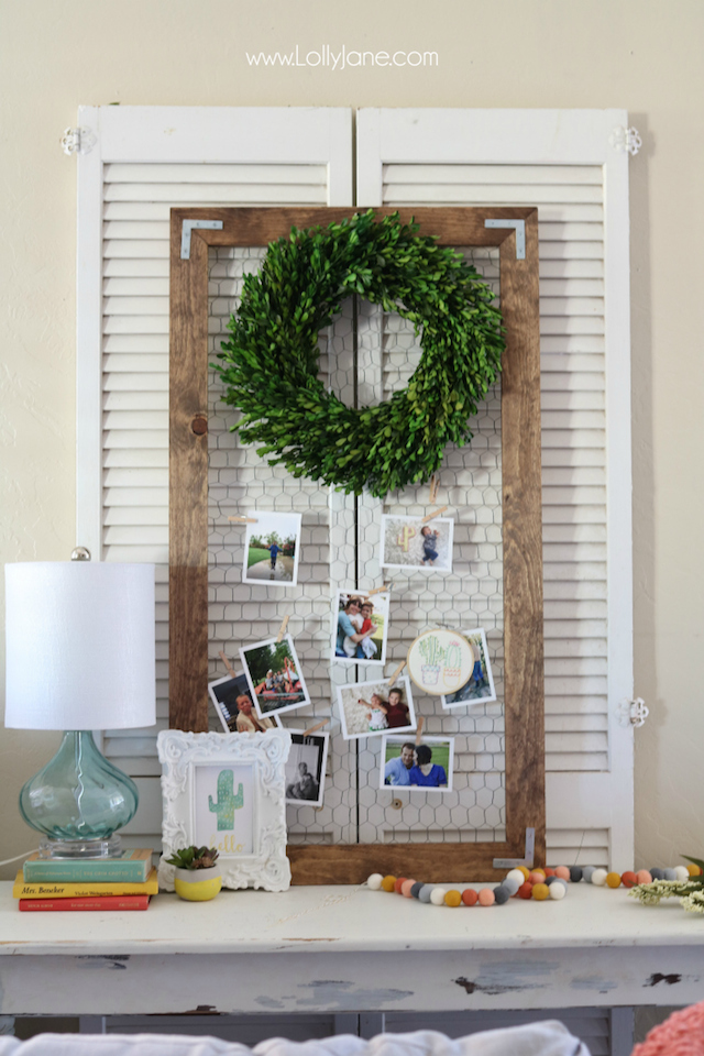 Modern Photo Display from Lolly Jane Blog