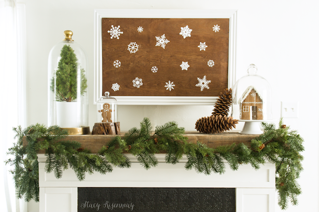 Christmas Mantel from  Not Just A Housewife