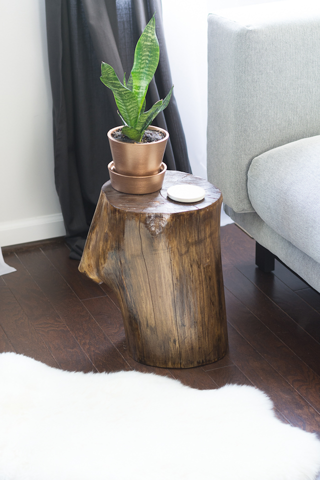 Tree Stump Side Table from  By Brittany Goldwyn
