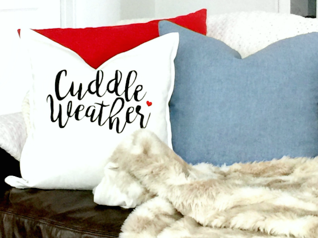 Stenciled Valentine's Pillow from Tauni Everett