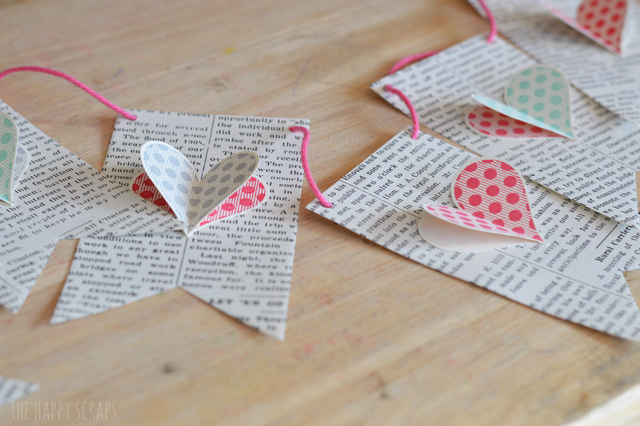 Heart Book Page Banner from The Happy Scraps
