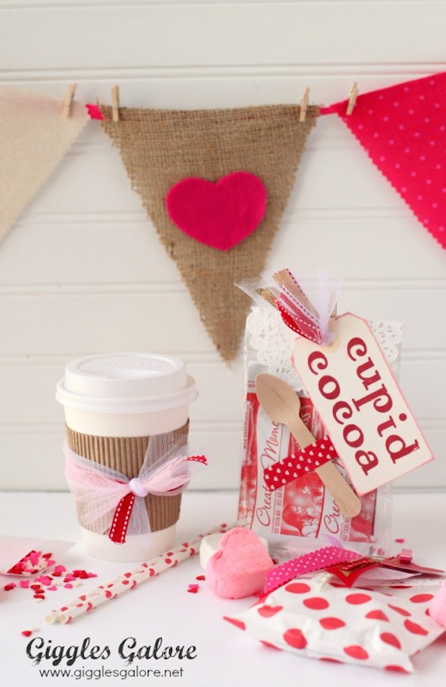 Cupid Cocoa Valentines from Giggles Galore