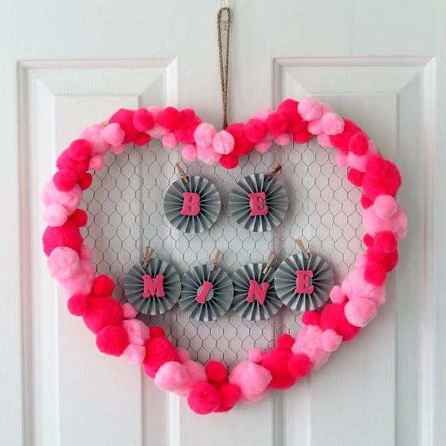 Valentine's Day Wreath from The Country Chic Cottage