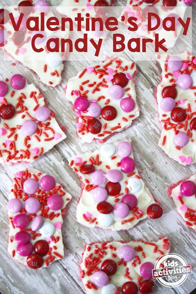 Valentine's Day Candy Bark from Kids Activities Blog
