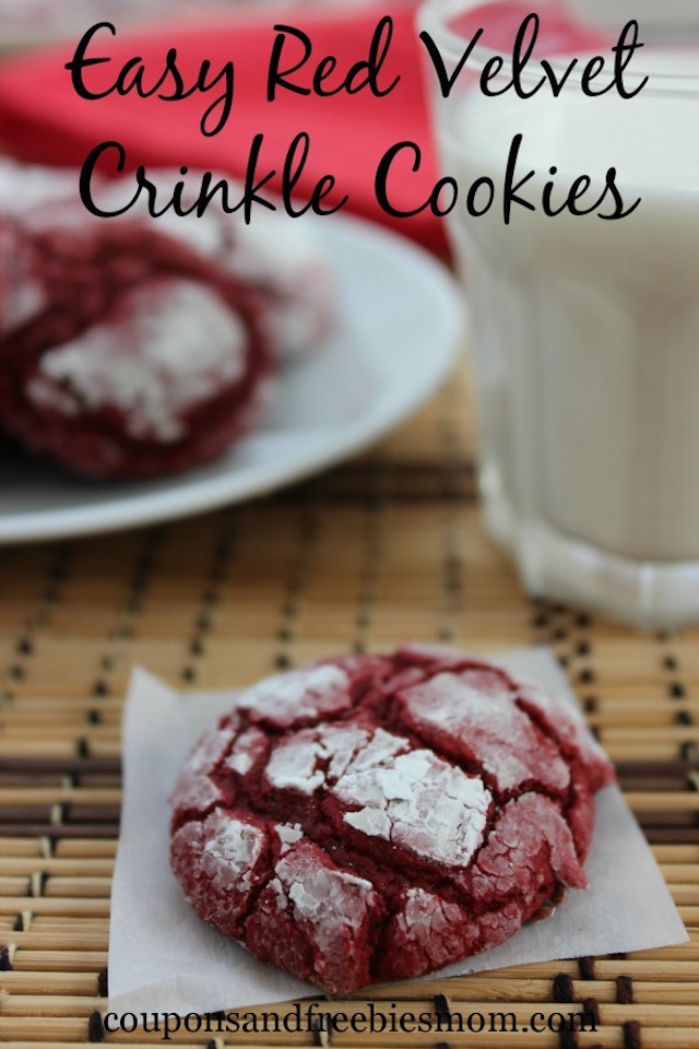 Red Velvet Crinkle Cookies from Coupons and Freebies Mom