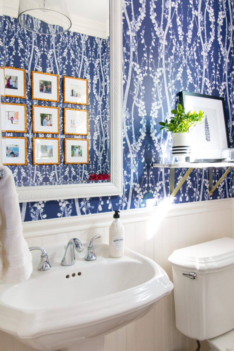 Powder Room Reveal from  A Thoughtful Place