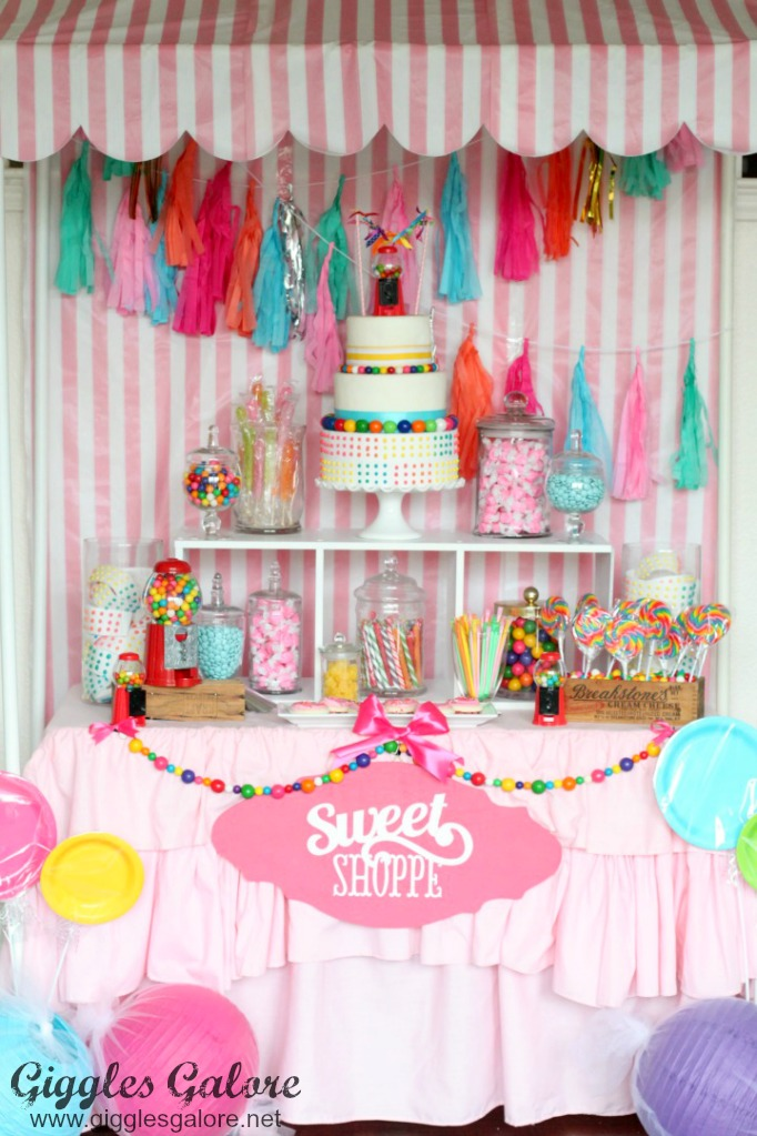 Sweet Shoppe Birthday Party from  Giggles Galore
