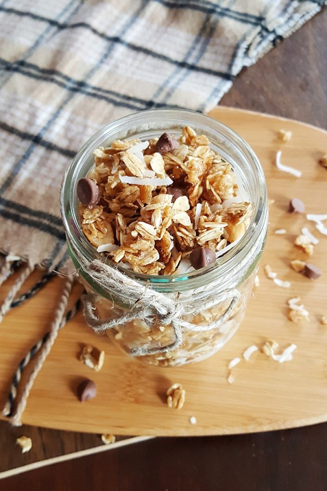 Samoa Granola from  Courtney's Cookbook