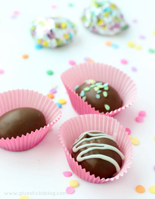 DIY Chocolate Easter Eggs from Gluesticks Blog