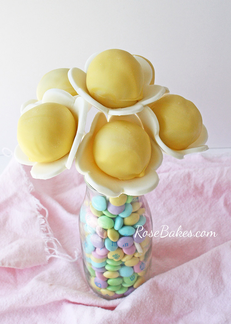 Spring Flower Cake Pops from Rose Bakes