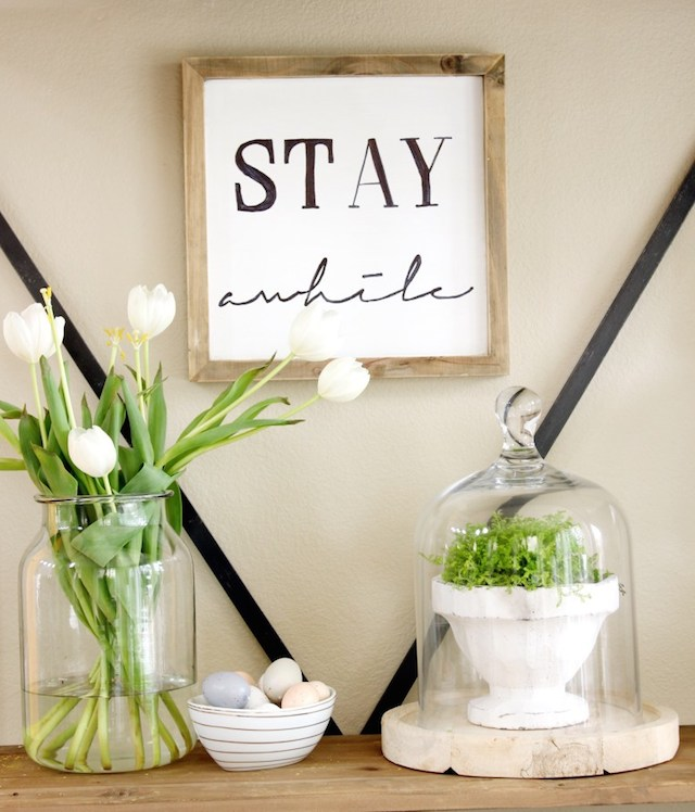 DIY Wood Sign from  Meaningful Spaces