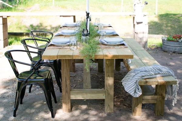 Summer Tablescape from  North Country Nest
